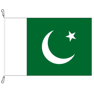 Fahne, Nation bedruckt, Pakistan, 70 x 100 cm