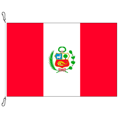 Fahne, Nation bedruckt, Peru, 100 x 150 cm