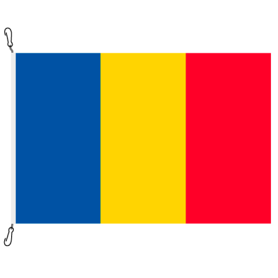 Fahne, Nation bedruckt, Rumänien, 100 x 150 cm