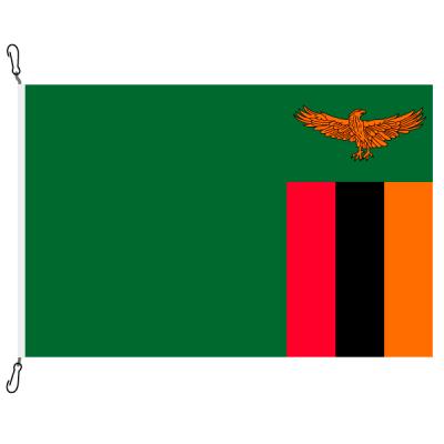 Fahne, Nation bedruckt, Sambia, 70 x 100 cm