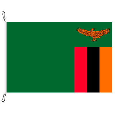 Fahne, Nation bedruckt, Sambia, 200 x 300 cm