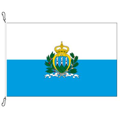 Fahne, Nation bedruckt, San Marino, 70 x 100 cm