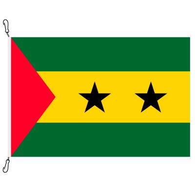 Fahne, Nation bedruckt, São Tomé und Príncipe, 70 x 100 cm