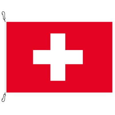 Fahne, Nation bedruckt (Flagge zur See) Schweiz, 150 x 225 cm