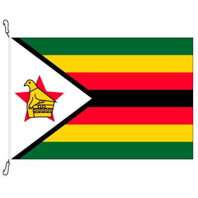 Fahne, Nation bedruckt, Simbabwe, 70 x 100 cm