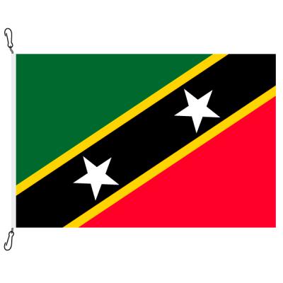 Fahne, Nation bedruckt, St. Kitts und Nevis, 150 x 225 cm