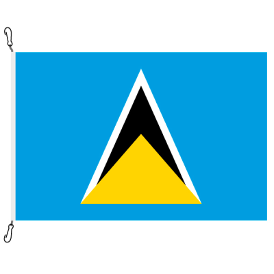 Fahne, Nation bedruckt, St. Lucia, 70 x 100 cm