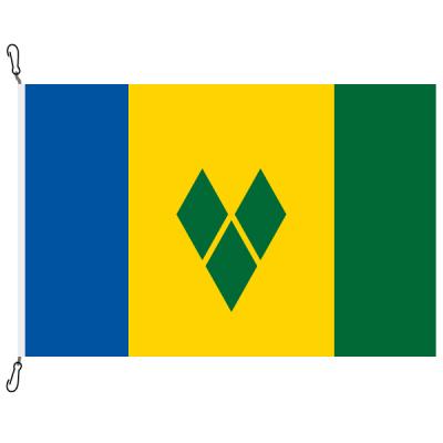 Fahne, Nation bedruckt, St. Vincent und die Grenadinen, 70 x 100 cm