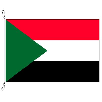 Fahne, Nation bedruckt, Sudan, 70 x 100 cm