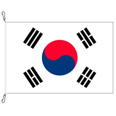 Fahne, Nation bedruckt, Südkorea, 70 x 100 cm