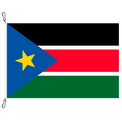 Fahne, Nation bedruckt, Südsudan, 70 x 100 cm