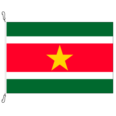 Fahne, Nation bedruckt, Suriname, 100 x 150 cm