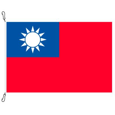 Fahne, Nation bedruckt, Taiwan, 70 x 100 cm
