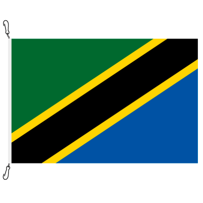 Fahne, Nation bedruckt, Tansania, 70 x 100 cm