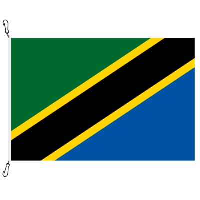 Fahne, Nation bedruckt, Tansania, 100 x 150 cm