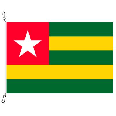 Fahne, Nation bedruckt, Togo, 70 x 100 cm