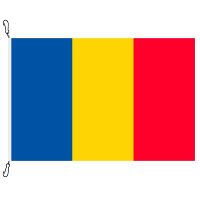 Fahne, Nation bedruckt, Tschad, 150 x 225 cm