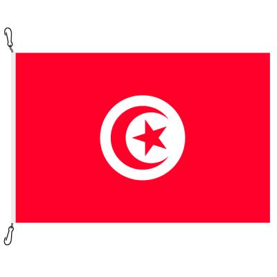 Fahne, Nation bedruckt, Tunesien, 70 x 100 cm