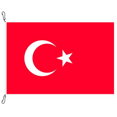Fahne, Nation bedruckt, Türkei, 70 x 100 cm