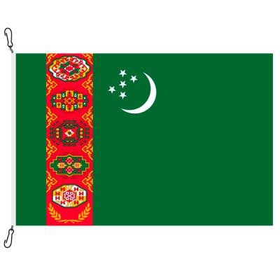 Fahne, Nation bedruckt, Turkmenistan, 70 x 100 cm