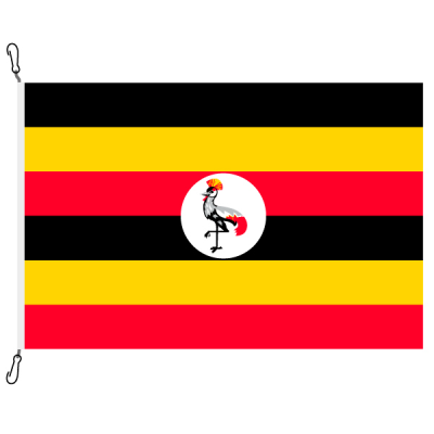 Fahne, Nation bedruckt, Uganda, 70 x 100 cm