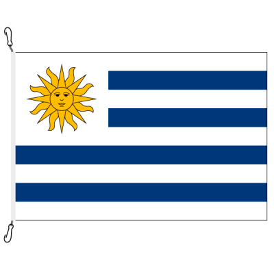 Fahne, Nation bedruckt, Uruguay, 150 x 225 cm