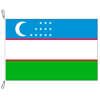 Fahne, Nation bedruckt, Usbekistan, 70 x 100 cm