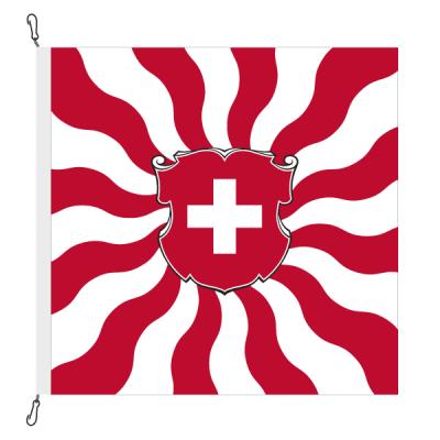 Fahne, geflammt, bedruckt Schweiz, 100 x 100 cm