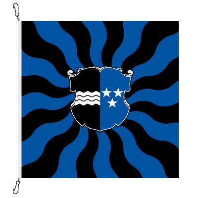 Fahne, geflammt, bedruckt Aargau, 150 x 150 cm