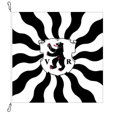 Fahne, geflammt, bedruckt Appenzell AR, 78 x 78 cm
