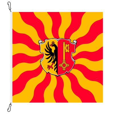 Fahne, geflammt, bedruckt Genf, 78 x 78 cm
