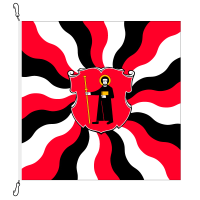 Fahne, geflammt, bedruckt Glarus, 78 x 78 cm