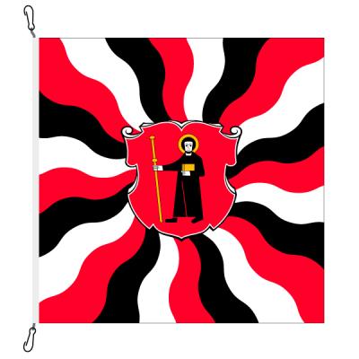 Fahne, geflammt, bedruckt Glarus, 100 x 100 cm