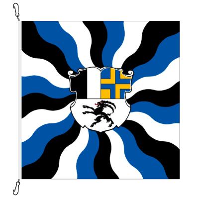 Fahne, geflammt, bedruckt Graubünden, 78 x 78 cm