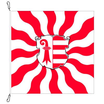 Fahne, geflammt, bedruckt Jura, 78 x 78 cm