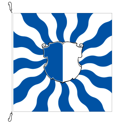 Fahne, geflammt, bedruckt Luzern, 200 x 200 cm