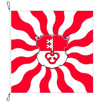 Fahne, geflammt, bedruckt Obwalden, 150 x 150 cm