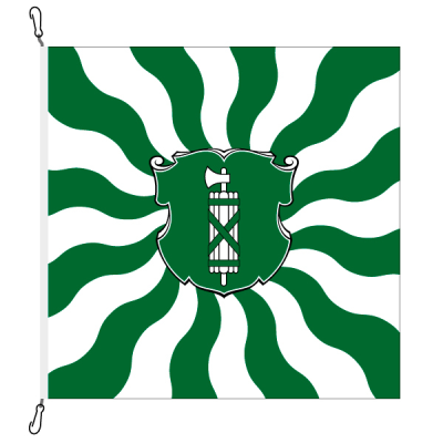 Fahne, geflammt, bedruckt St. Gallen, 120 x 120 cm