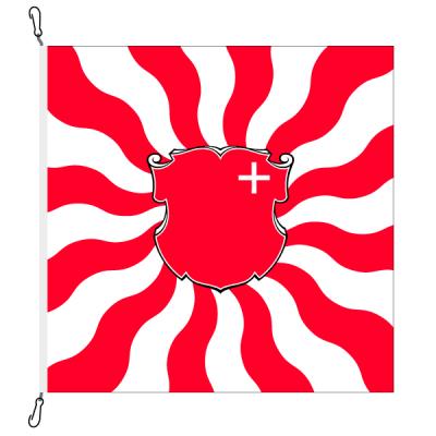 Fahne, geflammt, bedruckt Schwyz, 200 x 200 cm