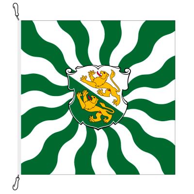 Fahne, geflammt, bedruckt Thurgau, 78 x 78 cm