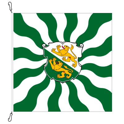 Fahne, geflammt, bedruckt Thurgau, 200 x 200 cm