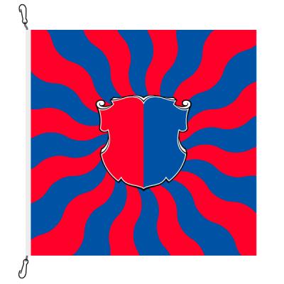 Fahne, geflammt, bedruckt Tessin, 78 x 78 cm