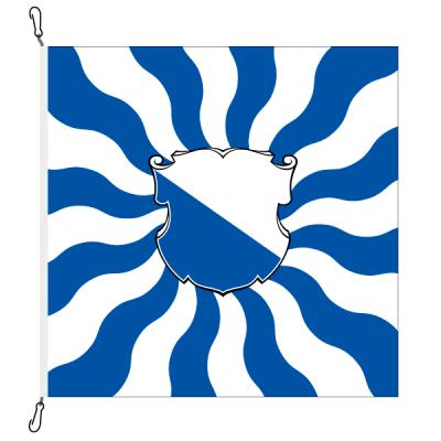 Fahne, geflammt, bedruckt Zürich, 100 x 100 cm