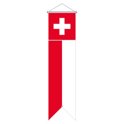 Flagge, bedruckt Schweiz, 100 x 400 cm,