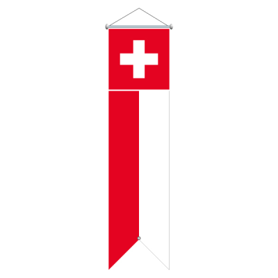 Flagge, bedruckt Schweiz, 120 x 300 cm,