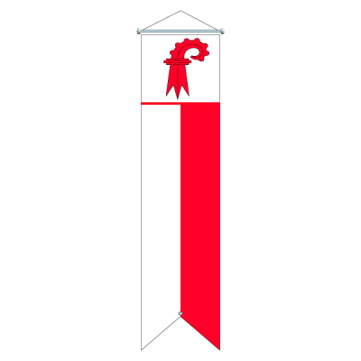 Flagge, Kanton bedruckt Basel Land, 120 x 700 cm,