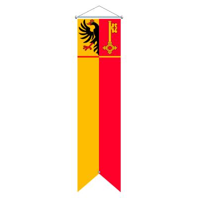 Flagge, Kanton bedruckt Genf, 100 x 400 cm,