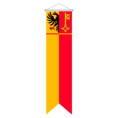 Flagge, Kanton bedruckt Genf, 120 x 400 cm,