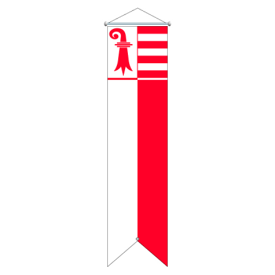 Flagge, Kanton bedruckt Jura, 120 x 500 cm,