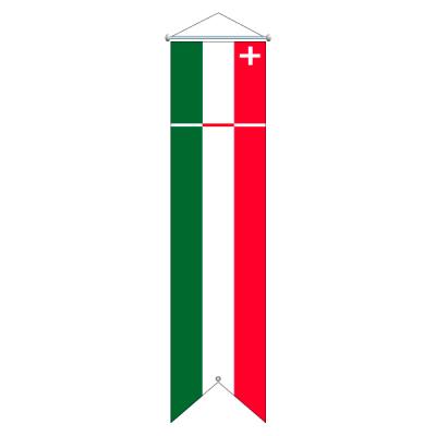Flagge, Kanton bedruckt Neuenburg, 100 x 400 cm,